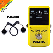 NUX Octave Loop Guitar Effects Pedal Looper Pedals Looping Station 5 minute Recording Time with Effect Free shipping