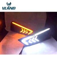 VLAND фабрики для части автомобиля для городских светодиодные панели 2014 2015 2016 дневного света Plug And Play два Цвет дизайн и Водонепроницаемый