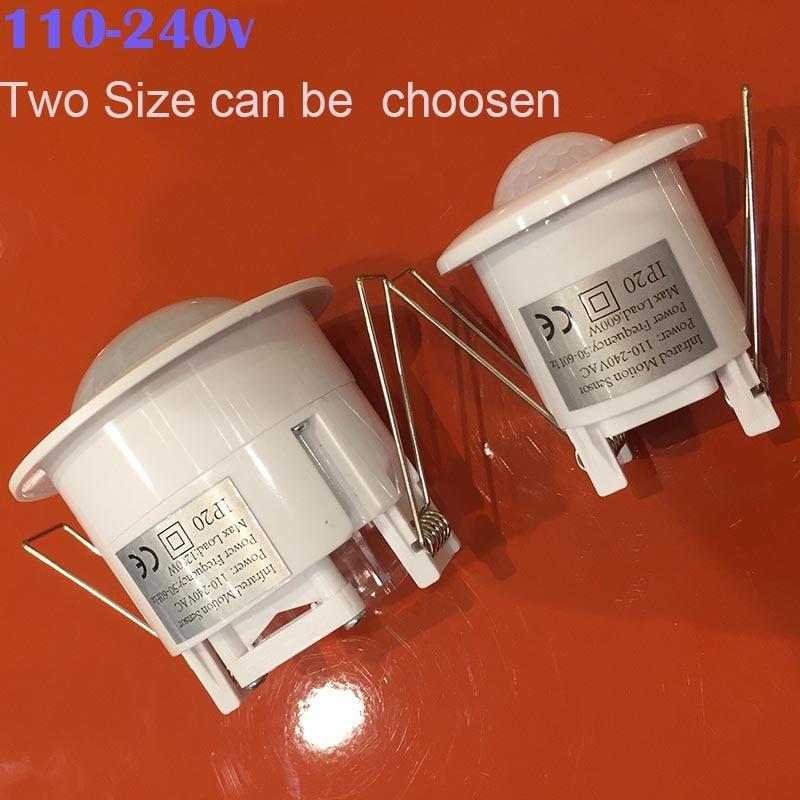 Newest 110V- 240V 360 Degree Ceiling Infrared Motion Active sensor Light Switch Automatic PIR Sensor Switch Two Model for chose стоимость