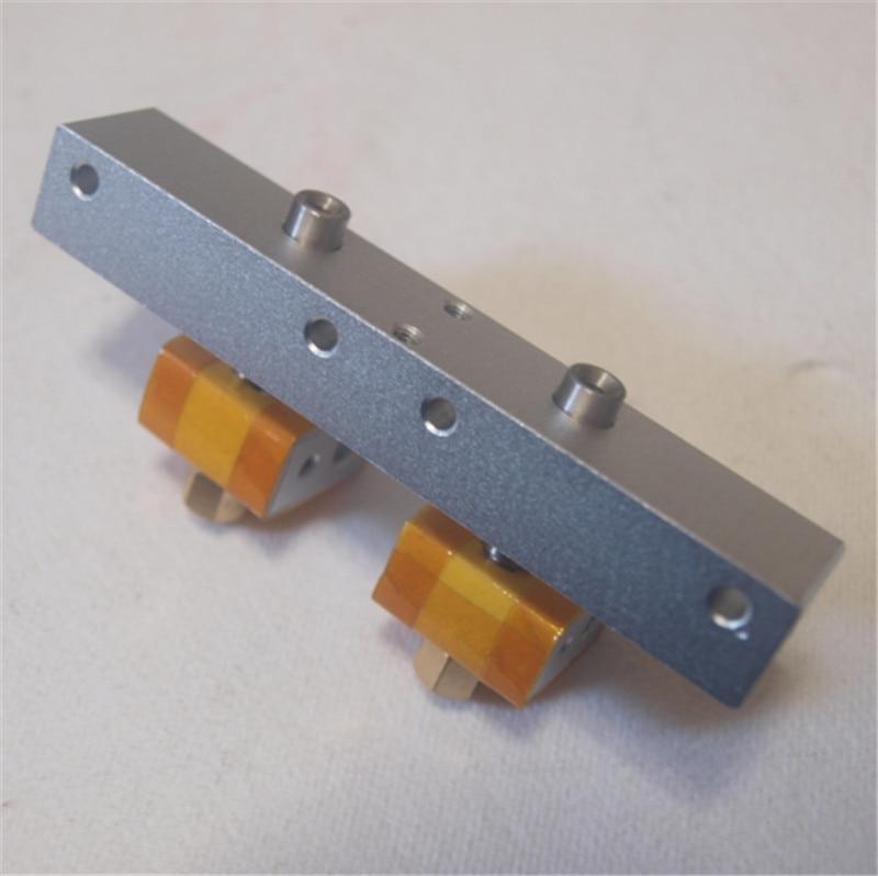 Funssor bricolage Reprap réplicateur imprimante 3D double hotend buse tête d'impression buse PTFE gorge tube kit 0.4mm buse cool bloc