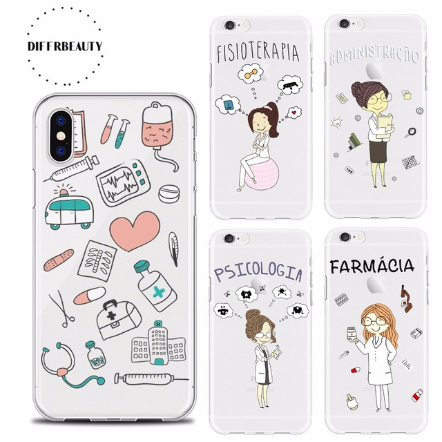 diffrbeauty doctor medical profession back cover soft phone cases