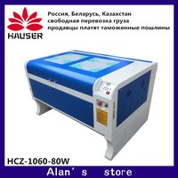 Free shipping HCZ RFE Laser engraver laser cutting 6090/1060 80W Power Ruida 6442S 110v/220v Co2 laser engraving machine