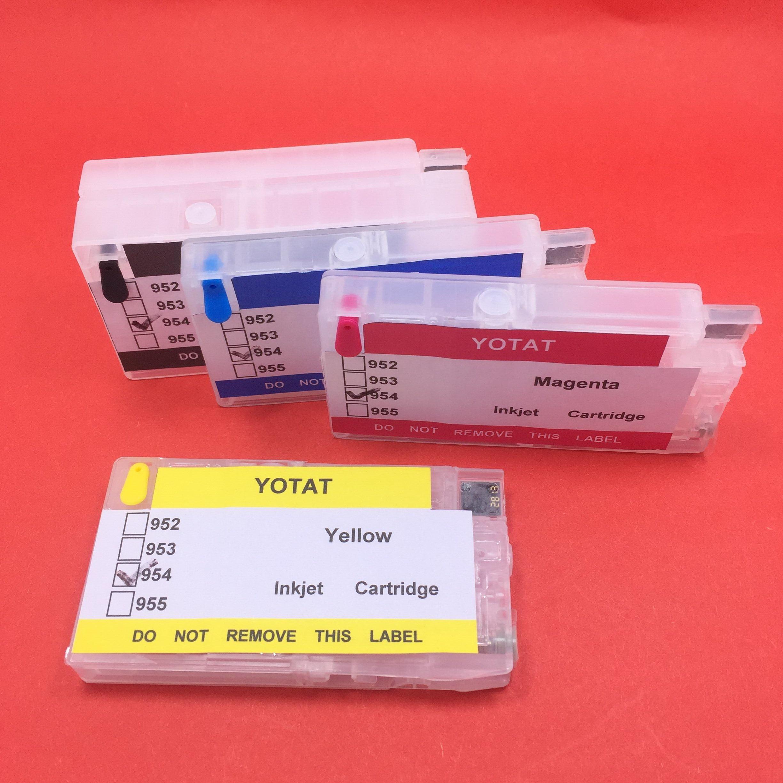 купить YOTAT (One time chip) Refillable Ink Cartridge for HP 954 HP954XL for HP OfficeJet Pro 8702 7720 7730 7740 8210 8218 8710 8720 по цене 3195.88 рублей