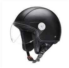 Nova Luz de boa qualidade retro vintage 3/4 abrir rosto capacete de motocross capacetes capacete motocross Aeronave modelo Capacete