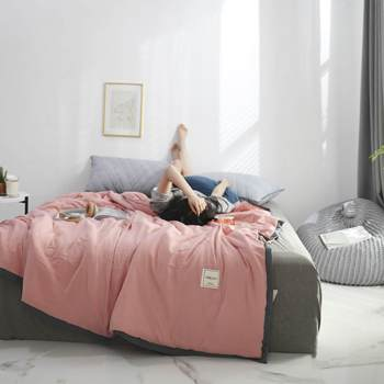 Solid Pink Bedspread Summer Quilt Tencel Blanket Comforter Bed Cover Quilting Home Textiles