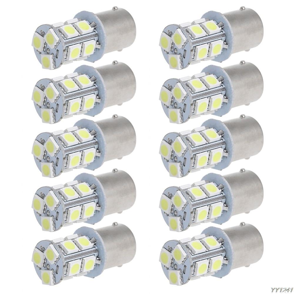 10Pcs BA15S 1156 5050 13SMD Car Auto LED Car Signal Light Tail Lamp Bulb Rear Car Signal