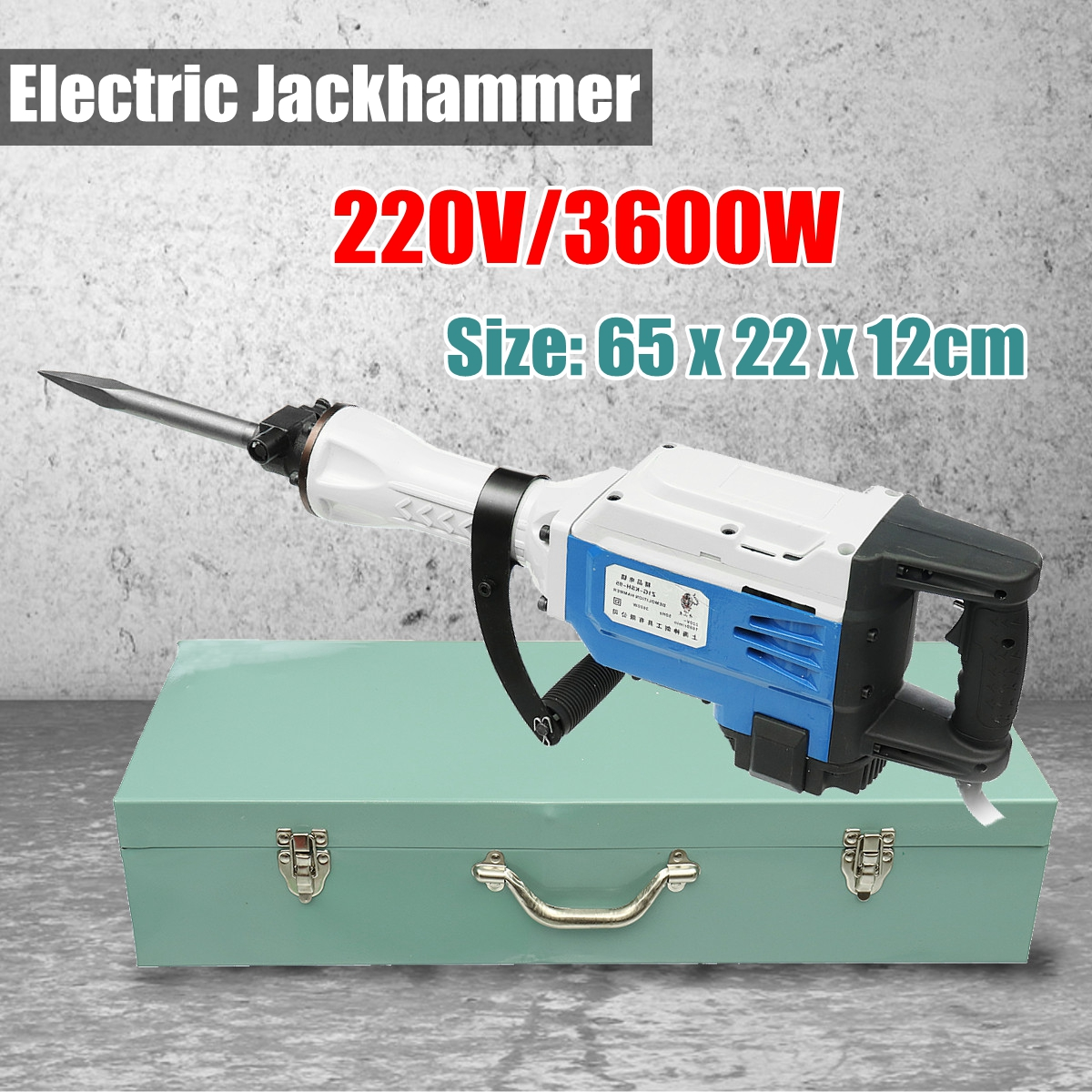 220V 3600W Electric Commercial Jackhammer Demolition Jack Hammer Tool free ship by spsr dps 650mb a 446635 001 457626 001 pc power supply dl160 g5 650w 1u 650w computer server mining power supply