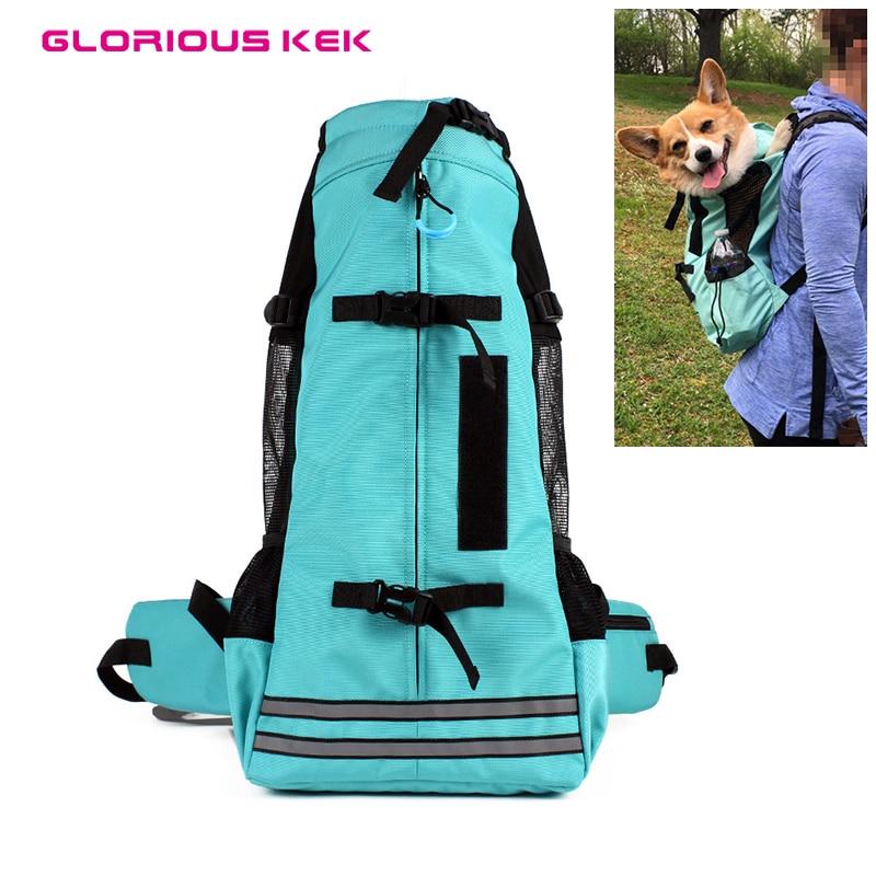 GLORIOUS KEK Dog Backpack for Medium Dogs Pet Dog Carrier Breathable Sport Dog Carrier Bag Outdoor Travel Riding Hiking 5 14kg