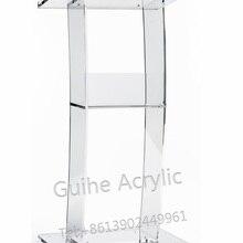 GUIHEYUN акриловая отдельная полка Подиум трибуна из акрила подиума, прозрачные подиума и лектерны