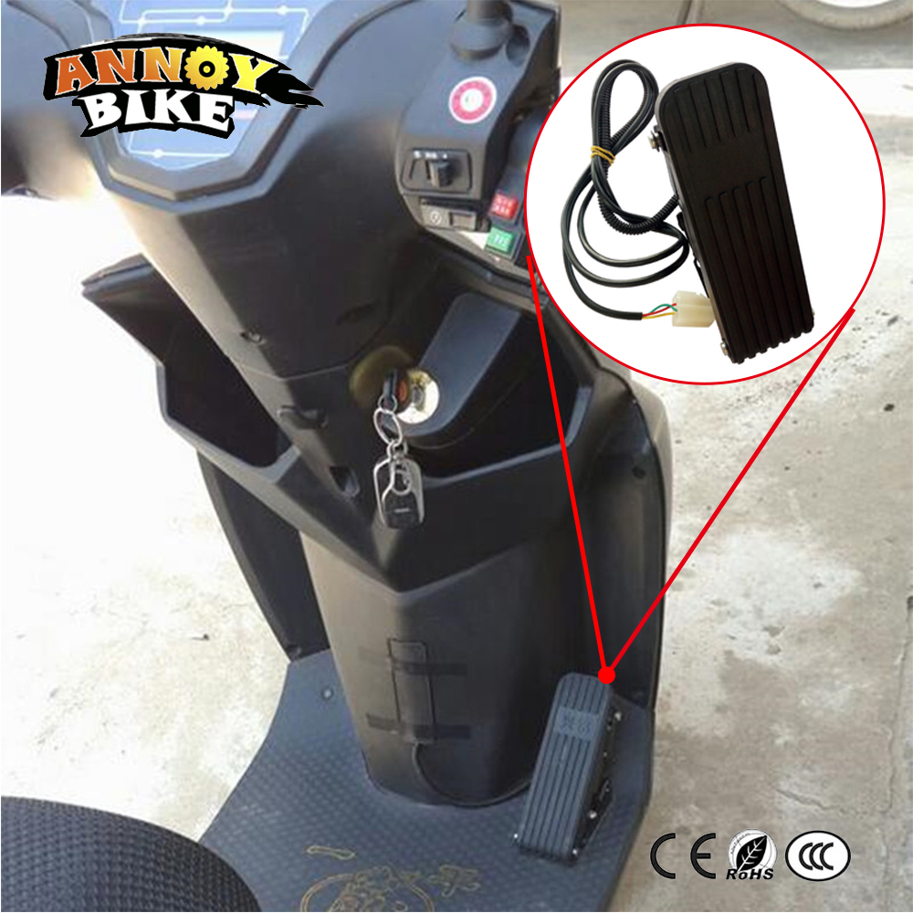 Electric Tricycle Foot Throttle Electric Scooter Foot Pedal Accelerator Pedal,Speed Control Bicycle Gas Pedals