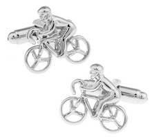 Fashion Jewelry HOT HOT Shirt Cufflink For Mens Gift Brand Cuff Button Silver Cycling Cuff Link High Quality Abotoaduras  цена и фото