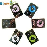Levert DropshipBinmer Mirror Clip USB Digital Mp3 Music Player Support 1-8GB SD TF Card Oct 1220 8*