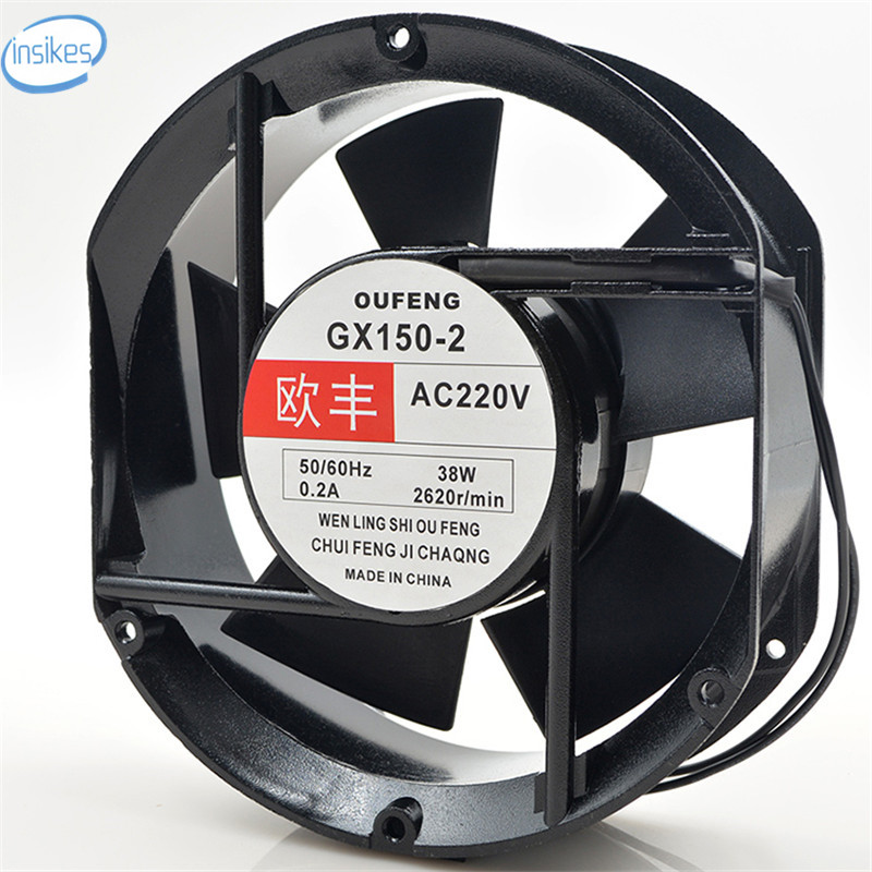 GX150-2 Elliptical Computer Blower Cooling Fan AC 220V 38W 0.2A 2620RPM 17251 172*172*51mm blower cooling fan w2s130 aa03 01 ac 230v 45w 2800rpm 7855es high temperature resistant fan 17cm 172 150 55mm 17255