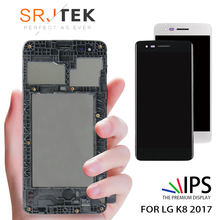 Original LCD For LG K8 2017 X240 LCD Display Touch Screen Digitizer with Bezel Frame Full Assembly Black White