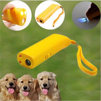Odstraszacz psów trening psów przeciw szczekaniu 3 w 1 LED ultradźwiękowy pies przestać szczekać trener bez baterii tanie i dobre opinie Pies Gwizdki Z tworzywa sztucznego Plastic 12 5cm*4cm*2 5cm(4 92*1 57*0 98inch) About 10 m Ultrasonic Dog Training device