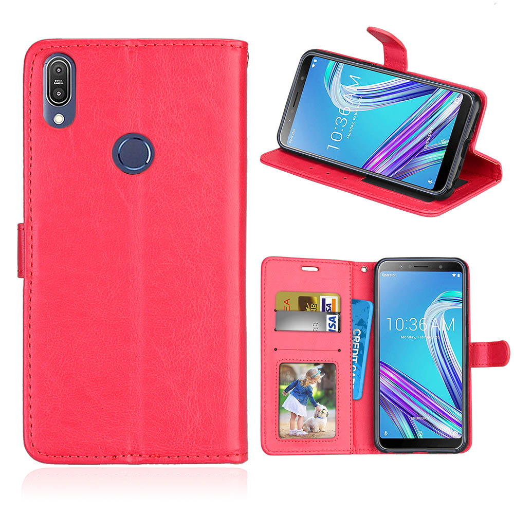 Wallet Case For Asus Zenfone Max Pro (M1) ZB601KL Case PU Leather Phone Case For Asus Zenfone Max Pro (M2) ZB631KL Cover fundas