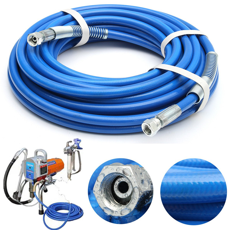 цена на 1Pc High Pressure Pipe 10m/13m/15m 5000psi Airless Paint Hose 50' x 1/4 Sprayer Airless Paint Hose For Spray Guns Sprayer Water
