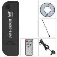 hdtv דיגיטלי Universial דיגיטלי USB2.0 HDTV טלוויזיה FM + DAB DVB-T RTL2832U + FC0012 תמיכה SDR טיונר המקלט Stick (3)
