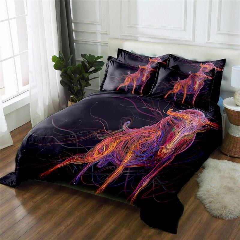 Nuevo Producto Elk 3D impreso 4 piezas juego de cama ropa de cama de microfibra ropa de cama edredón juego de sábanas - 2