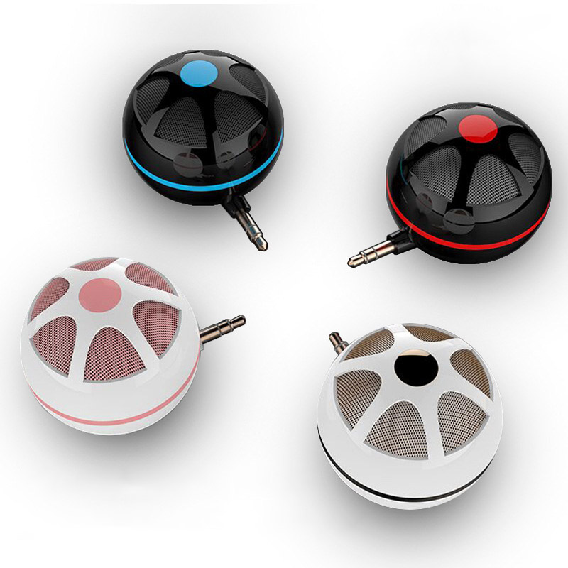 Centechia Portable Phone Speakers with 3.5mm Micro USB Small Handsfree Mini Speakers for Phone eals @JH