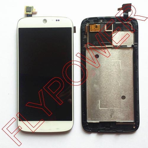 for Acer Liquid Jade S55 Lcd Display With White Touch Screen digitizer + Frame assembly by free shipping; 100% warranty wholesale price for acer liquid jade s55 lcd display digitizer touch screen for acer liquid jade lcd free shipping