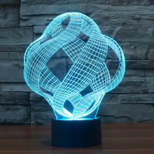 Willshi Table Light Latest 3D Night Light LED Lamp LED Lighting Fashion Desk Lamps Colorful Bedside Table Lamp