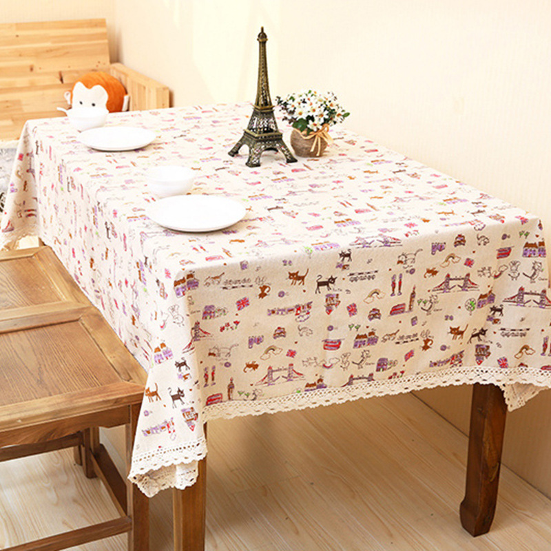 linen tablecloths wholesale multiuse cover cloth towel tablecloth small fresh home decoration table cloth