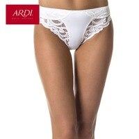 ARDI Female Briefs Mid Waist Lace Panties Ladies Everyday Underwear White Women Plus Large Size S