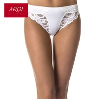 ARDI Female Briefs Mid-Waist Lace Panties Ladies Everyday Underwear White Women Plus Large Size S M L XL XXL R2706-23