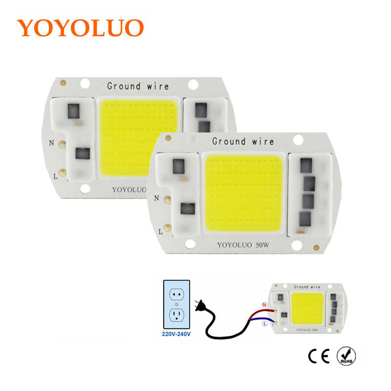 LED COB Lamp Chip 3W 20W 30W 50W 220V Input Smart IC Driver Fit For DIY LED Floodlight Spotlight led bulb Cold White Warm White