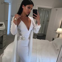 Adyce 2017 New White Autumn Women Dress Sexy Spaghetti Strap Sequined Evening Dresses Bodycon Party Dress Celebrity Bandage Dresses