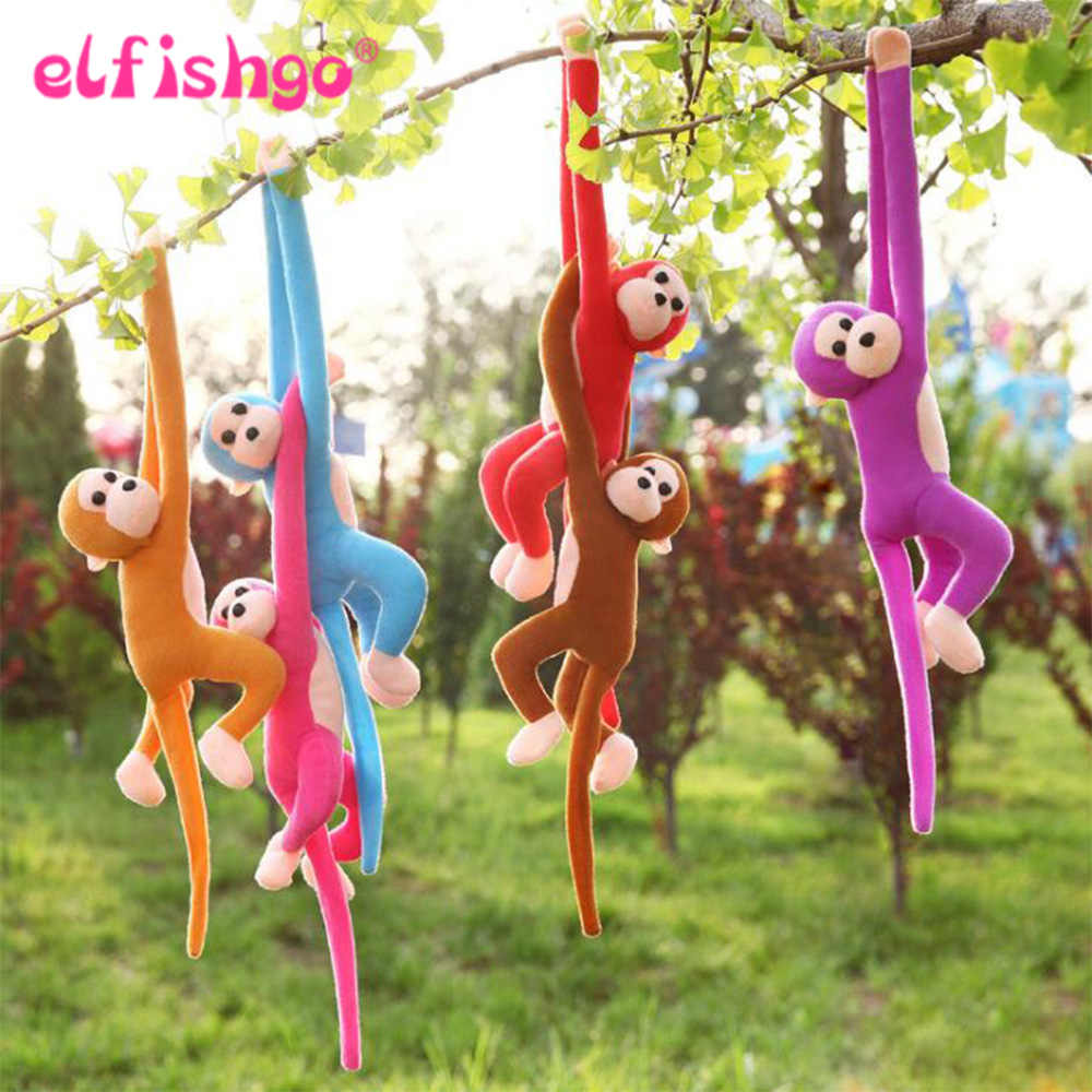 60CM Kawaii Long Arm Tail Monkey Stuffed Doll Plush Toys Curtains Baby Sleeping Appease Animal Doll Birthday Gifts