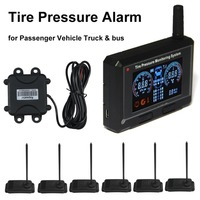 Passenger Vehicle Tire Pressure Alarm Truck Bus Tyre Pressure Monitoring System Repeater 6 Internal Sensors