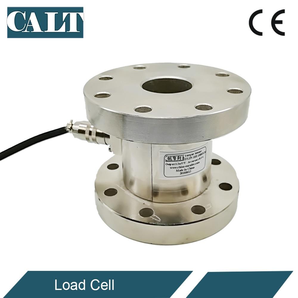 CALT Flange type Static Rotary Torsional Torque Sensor DYJN-101 load cell torque tester 0-200N.m цена
