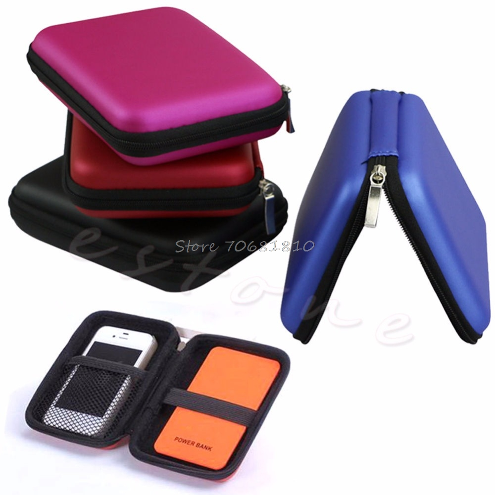 Fashion Carry Case Cover Bag For 2.5 Inch USB Hard External WD HDD Disk Drive Drop Shipping