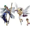 Monstro Digital digimons Angewomon & Hikari/Angemon & Takeru Action Figure no box 22 cm (Chinês Verson)