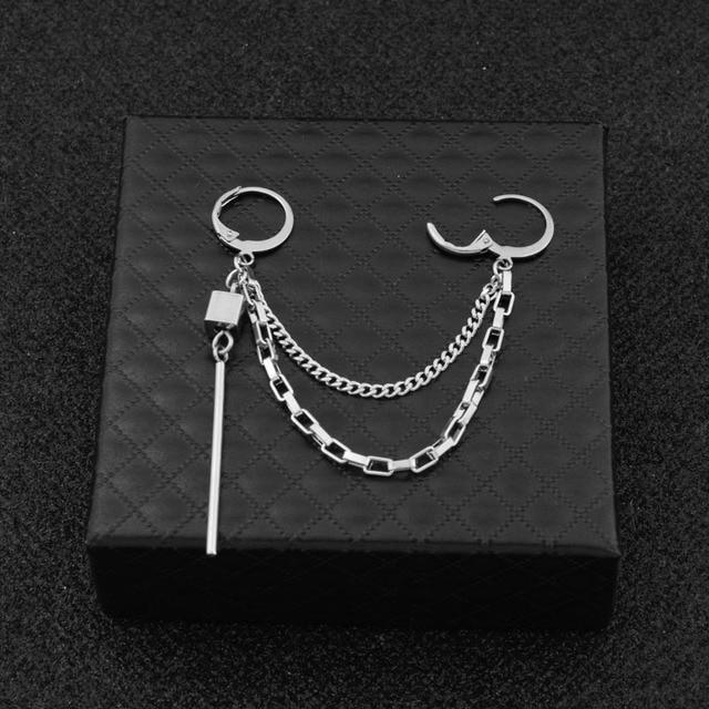 1pcs BTS J-Hope Square Shape Geometric Earrings Earcuff 4