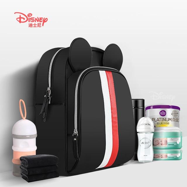 Disney Baby cartoon Mickey Bag Mommy Stroller mom Feeding Diaper backbag Care biberon Insulation Travel Bag 20-30L Wet nappy bag