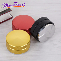 58mm Stainless Steel Coffee Tamper Three Angled Slope Aluminum Alloy Matte Professional Espresso Wbc Adjustable Macaron Tampers