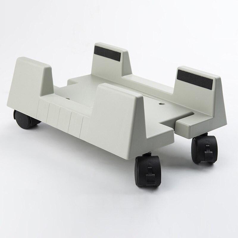 Cases de Computador Branco Universal Stents Torres Chassi Anfitrião Suporte Ajustável Grande Móvel Abs Plástico Polia Case Slide h