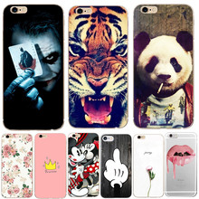 Phone Bag Case For iPhone 6 6S Cases Panda Flower Tiger Soft TPU Silicone Back Cover For Apple iPhone X 8 Plus 7 Plus 5 S 5S SE