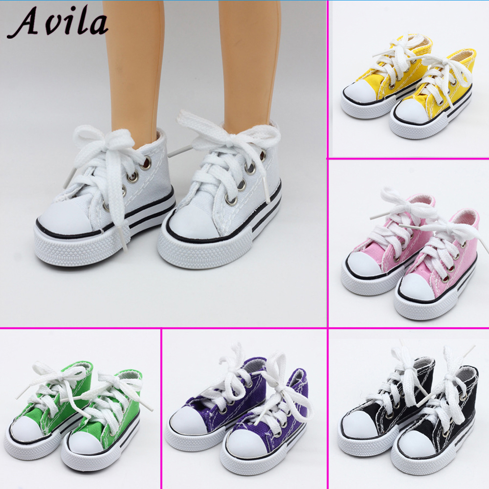 New Born Toy Shoes Sport Style Shoes Canvas Shoes Fits 60 Cm Toy Dolls Baby And 1/3 BJD Doll Accessories