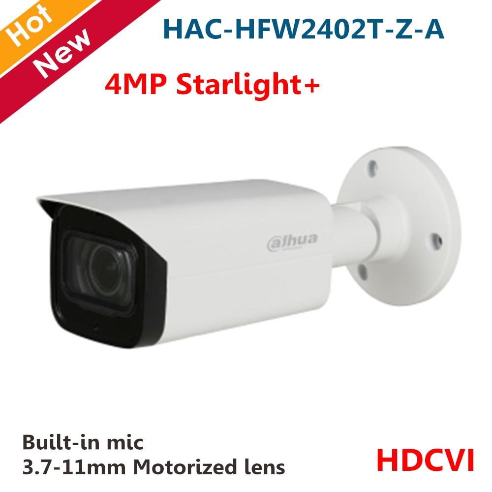 Original 4MP Starlight+ HDCVI Camera HAC-HFW2402T-Z-A Smart IR 80m 3.7-11mm Motorized Lens Built-in Mic Max. 30fps For CCTV
