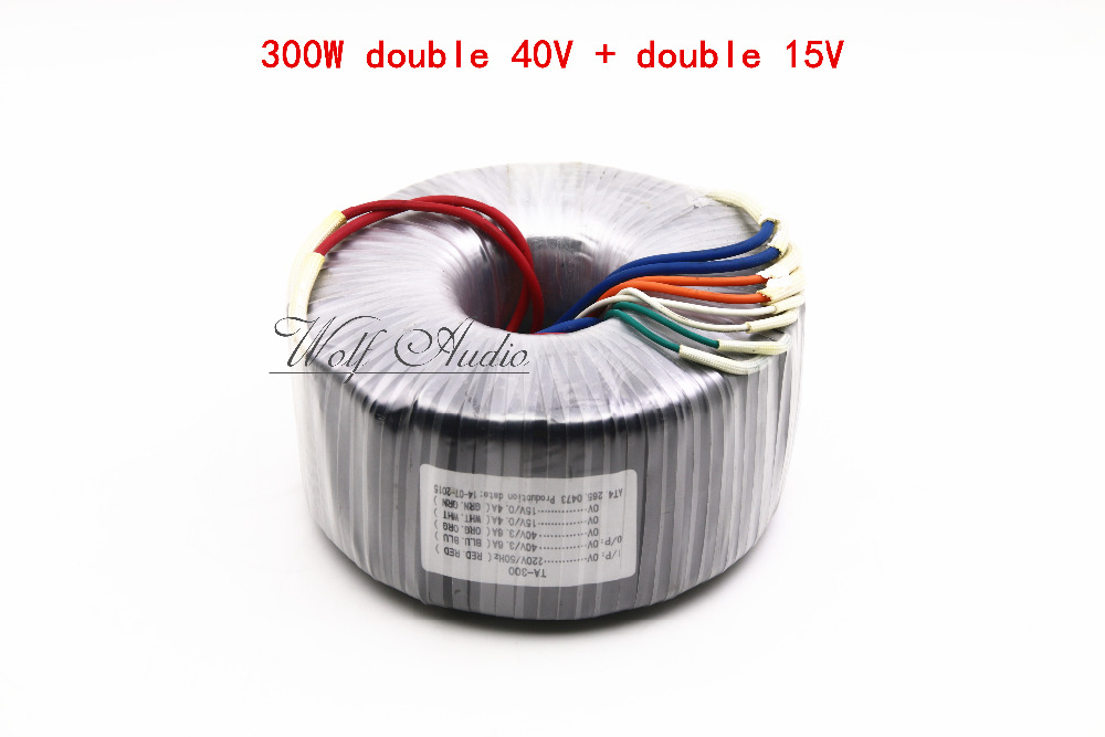 300W Toroid Transformer For Preamp Amplifier Primary 220V Secondary 40V 2 15V 2 Power Transformers
