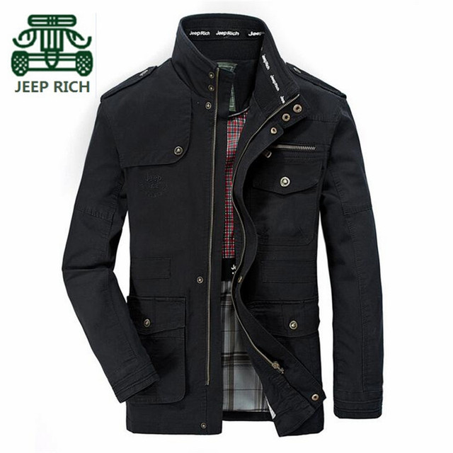 RICH AFS JEEP 5XL/6XL/7XL Plus Size Army 100% Cotton Resist Wear Jacket,Autumn/Spring Man Casual Outwear,Wholesale Cardigan Coat