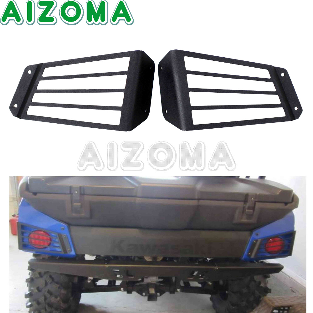 Tail Light Guards Protection Taillights Grill Cover Protection 1 Pairs For Kawasaki Teryx4 750 EPS LE 4x4 CAMO LE 2012 2013 2014