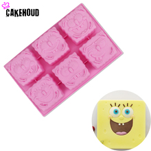 The New 6 cavity Mini Sponge baby Silicone chocoate Cake Mold Pudding Soap Chocolate Easy to mold Tools