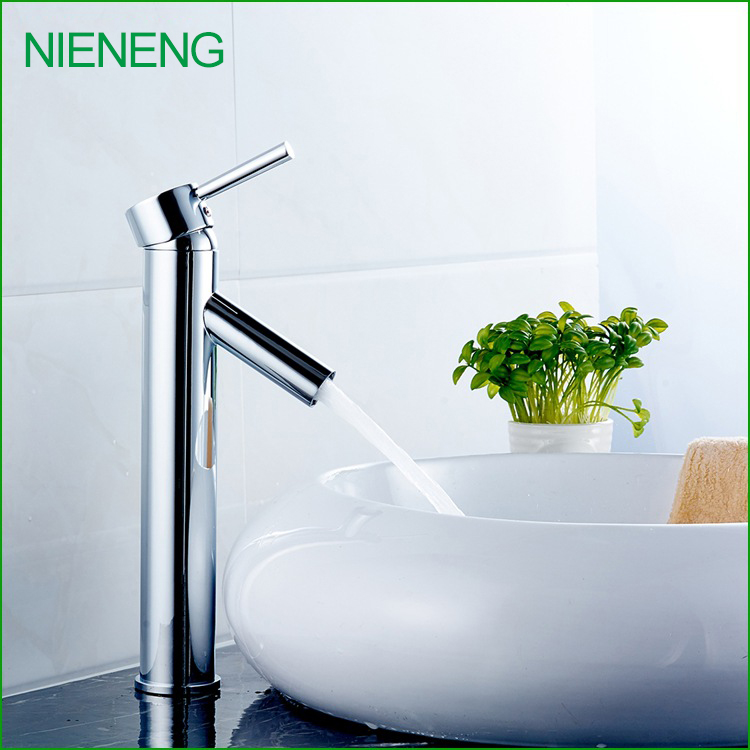 NIENENG torneira copper new chrome plating washroom accessory basin taps bathroom faucet mixer tap toilet fitment ICD60286 nieneng big discount basin washroom mixer bathroom faucet tap mixers wc sanitary ware water toilet taps polished chrome icd60157