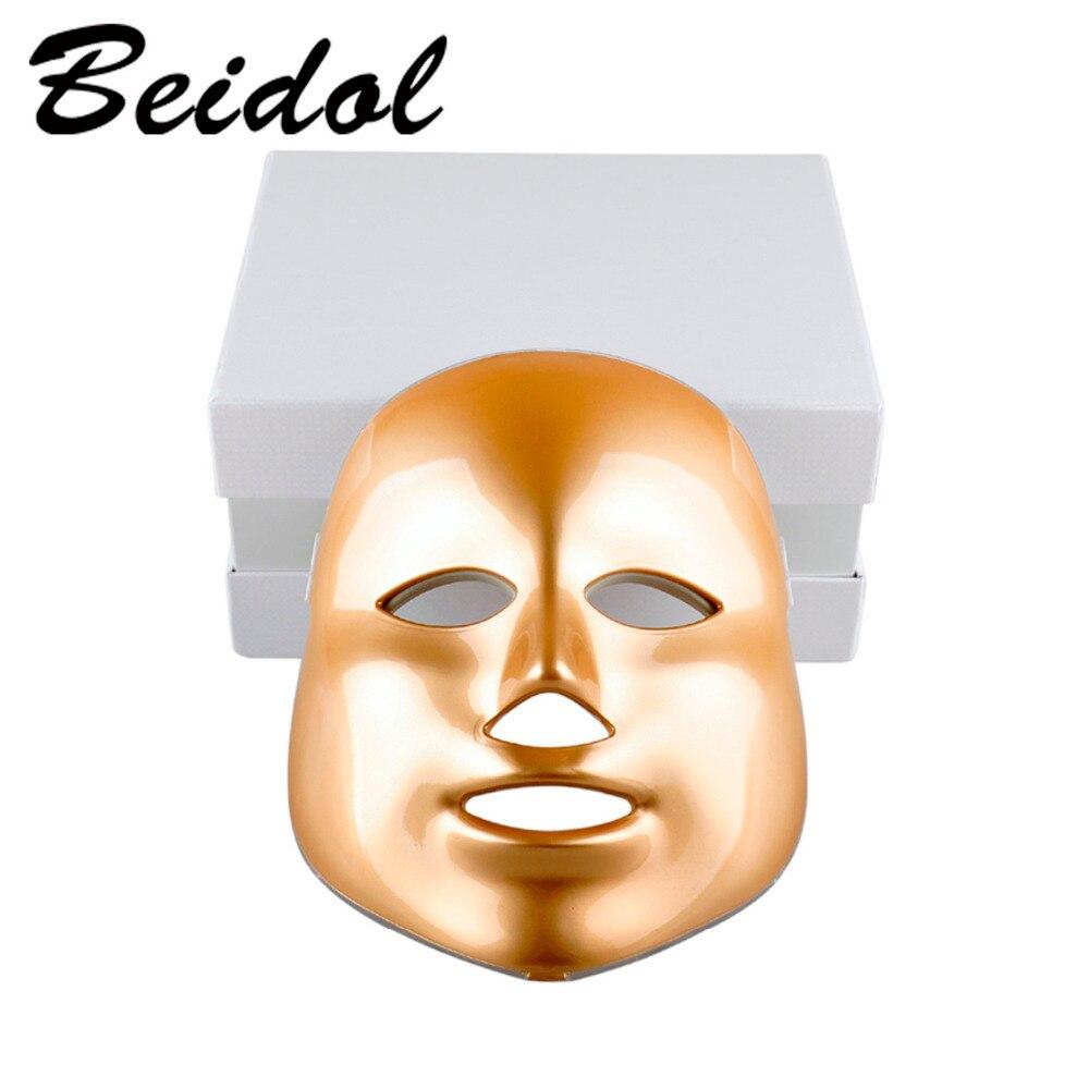 Photodynamique LED Masque Facial Peau Rajeunissement Élimination Des Rides Électrique Dispositif Anti-Vieillissement Masque Thérapie 7 Couleurs Beauté Machine