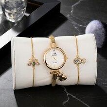 3PCS Womens popular bracelet smart watches set lovely jewelry Zonmfei high quality quartz